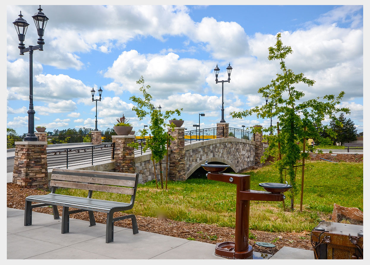 Shannon Masonry Construction - Commercial Stone Masonry Contractor - Stone Bridge Masonry Construction Project - Petaluma, CA