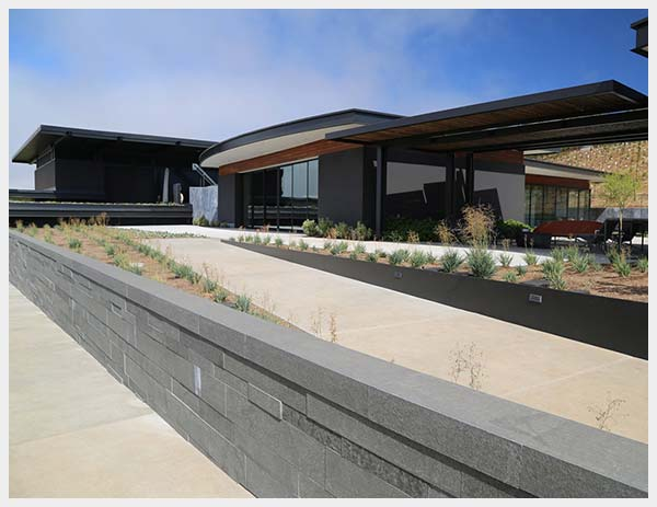 Shannon Masonry Construction - Commercial Stone Masonry Contractor - Stone Retaining Wall Masonry Construction Project - Napa County CA - Copyright ©2013 Signum Architecture