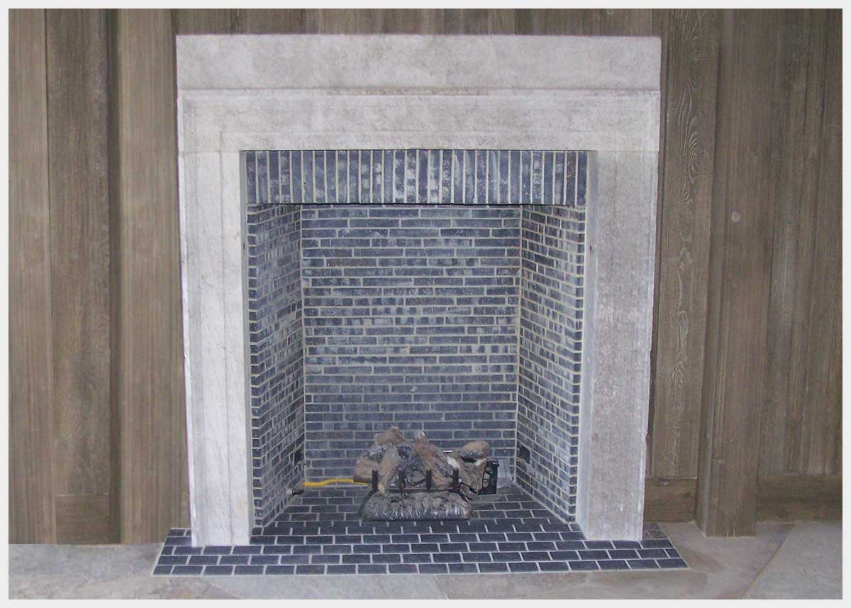 Shannon Masonry Construction - Resdential Masonry Contractor - Leading Stone, Brick, Block, and Concrete Constuction Contractor - Brick Rumford Box Fireplace Masonry Construction Project - San Rafael CA