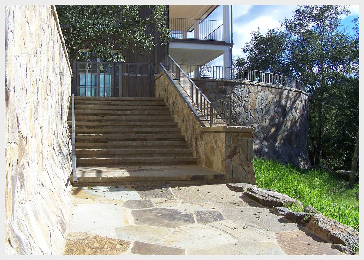 Shannon Masonry Construction - Residential Stone Masonry Contractor - Stone Stairway/Retainer Wall Masonry Construction Project - Sonoma County CA