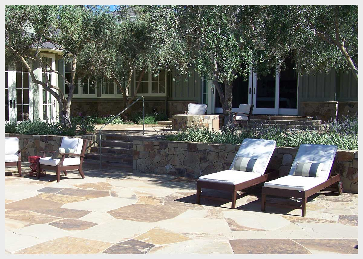 Shannon Masonry Construction - Residential Stone Masonry Contractor - Stone Sun Deck Masonry Construction Project - Mendocino County CA