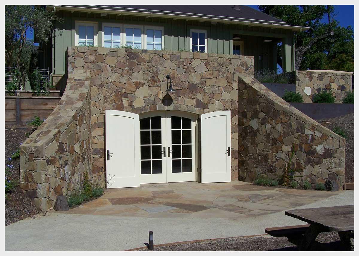 Shannon Masonry Construction - Residential Stone Masonry Contractor - Stone Wine Cellar Masonry Construction Project - Napa County CA