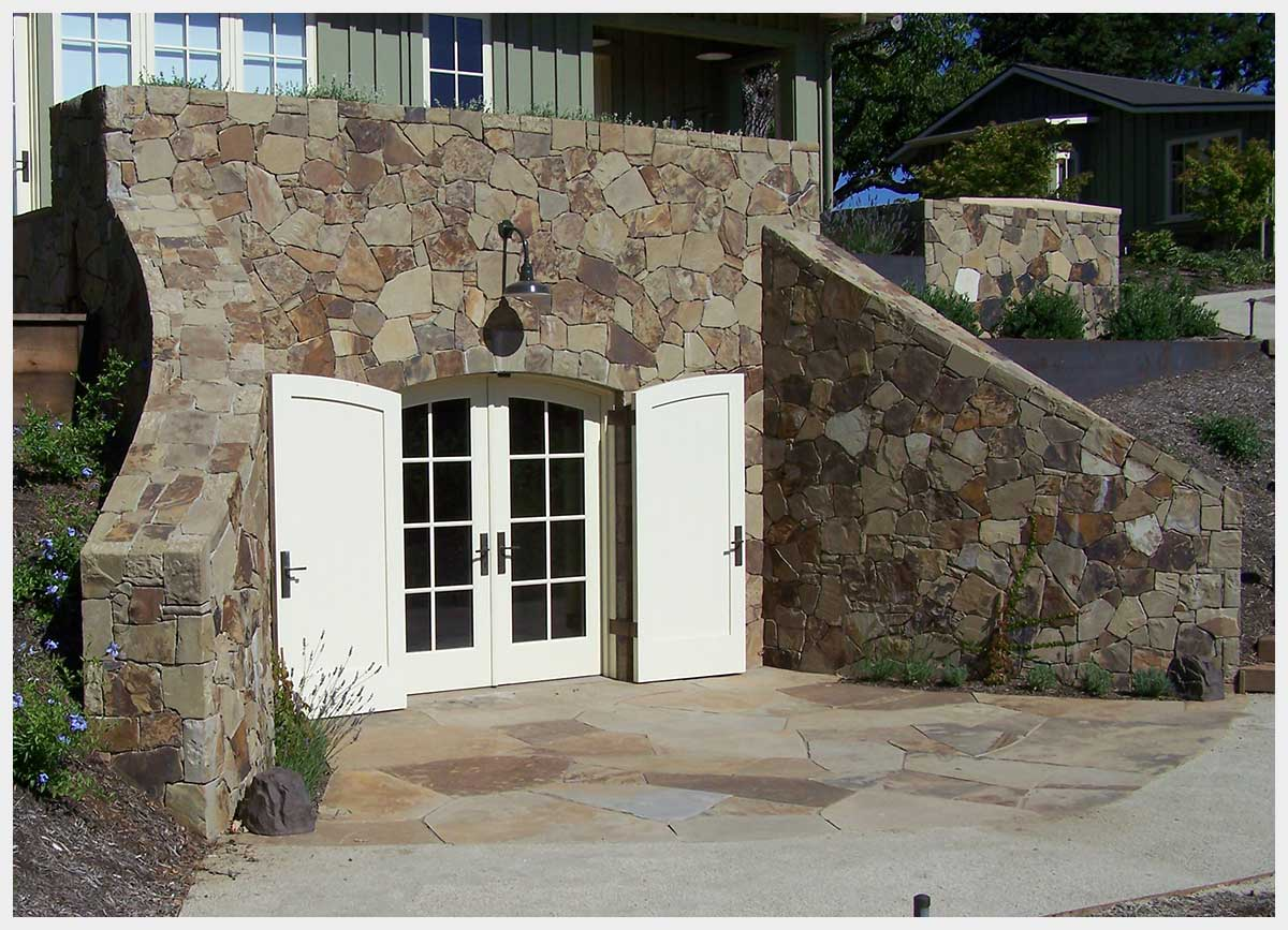 Shannon Masonry Construction - Residential Stone Masonry Contractor - Stone Wine Cellar Masonry Construction Project - Napa County CA