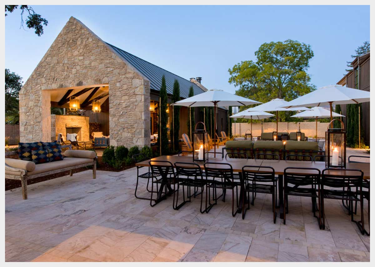 Shannon Masonry Construction - Commercial Winery Stone Masonry Contractor -  Stone Façade / Patio Masonry Construction Project - Yountville CA