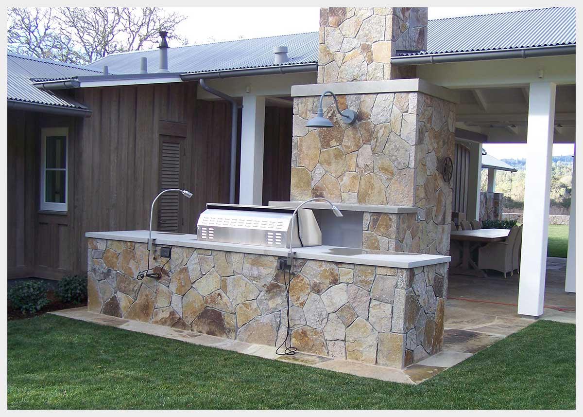 Shannon Masonry Construction - Commercial Stone Masonry Contractor - Stone Cooking Station Masonry Construction Project - San Rafael CA