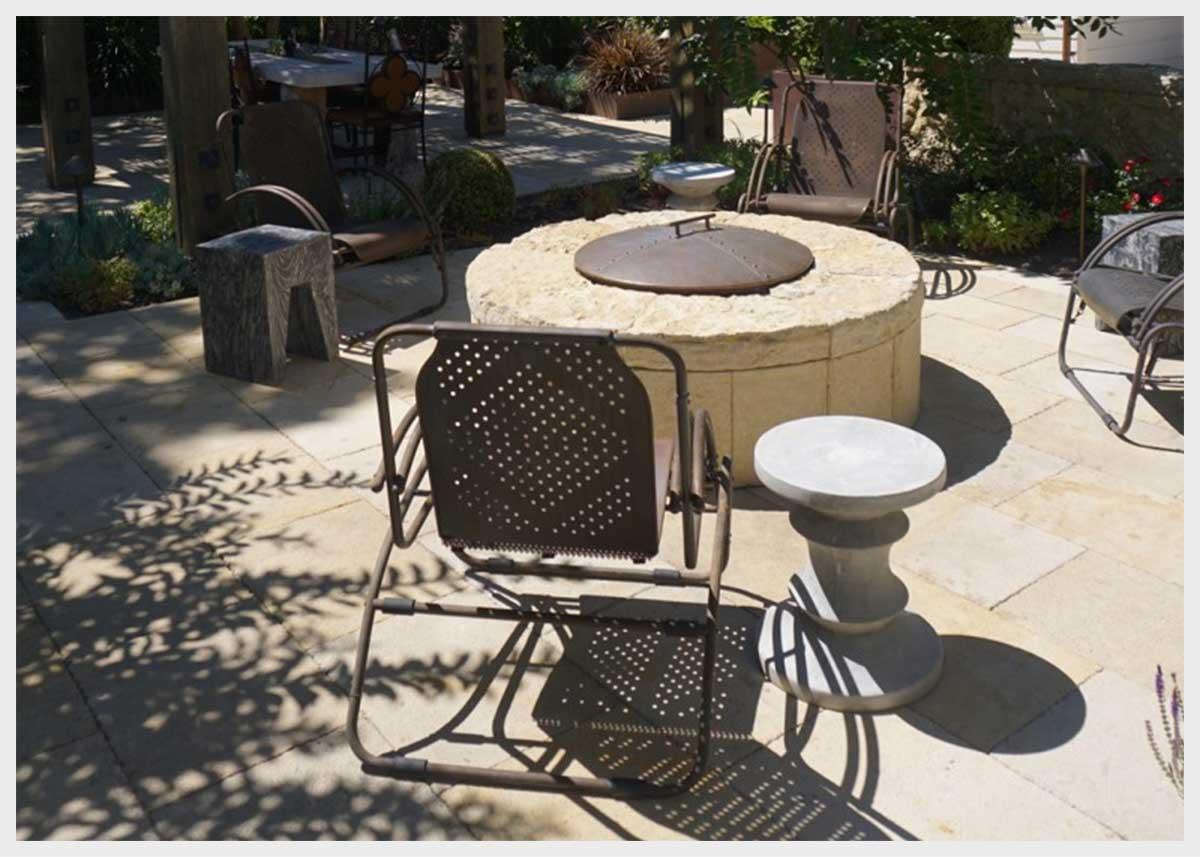 Shannon Masonry Construction - Commercial Winery Masonry Contractor - Stone Fire pit Masonry Construction Project - Sonoma CA