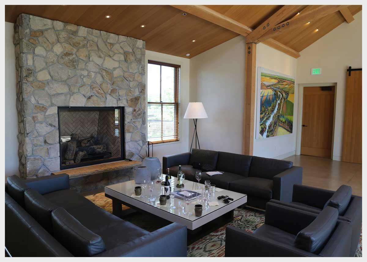 Shannon Masonry Construction - Commercial Winery Stone Masonry Contractor - Stone Fireplace Masonry Construction Project - St Helena CA