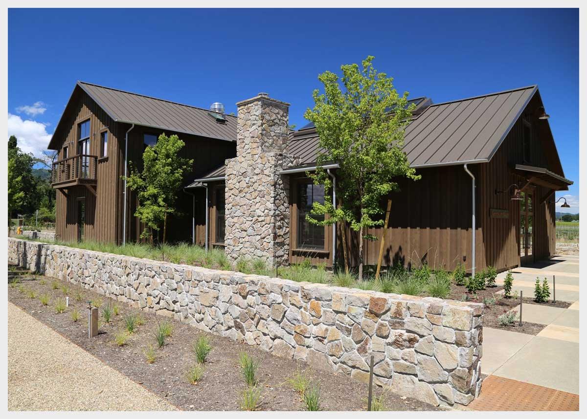 Shannon Masonry Construction - Commercial Winery Stone Masonry Contractor - Stone Retaining Wall Masonry Construction Project - St Helena CA