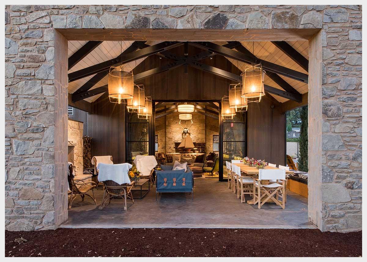 Shannon Masonry Construction - Commercial Winery Stone Masonry Contractor -  Stone Façade Masonry Construction Project - Yountville CA