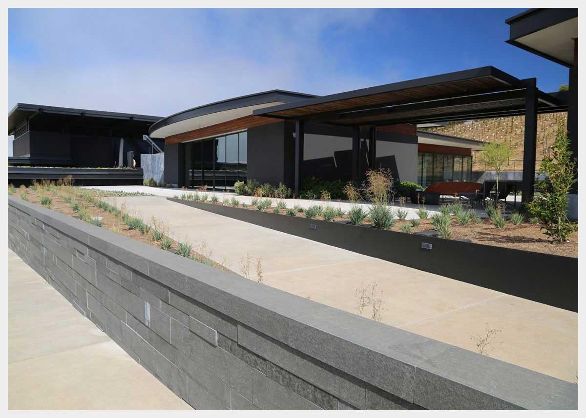 Shannon Masonry Construction - Commercial Winery Masonry Contractor - CMU Structure Stone Retaining Wall Masonry Construction Project - Napa County CA