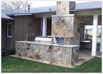 Shannon Masonry Construction - Commercial Stone Masonry Contractor - Stone Cooking Station Masonry Construction Project - San Rafael CA