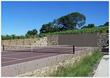 Shannon Masonry Construction - Commercial Masonry Contractor - Stone Retaining Wall / Tennis Court Masonry Construction Project - Napa County CA