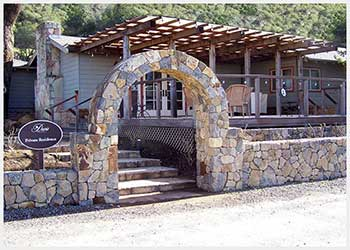 Shannon Masonry Construction - Residential Stone Masonry Contractor - Stone Archway / Landscape Wall Masonry Construction Project - Alameda County CA