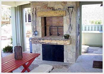 Shannon Masonry Construction - Residential Stone Masonry Contractor - Stone Fire Rotisserie Masonry Construction Project - Sausalito CA