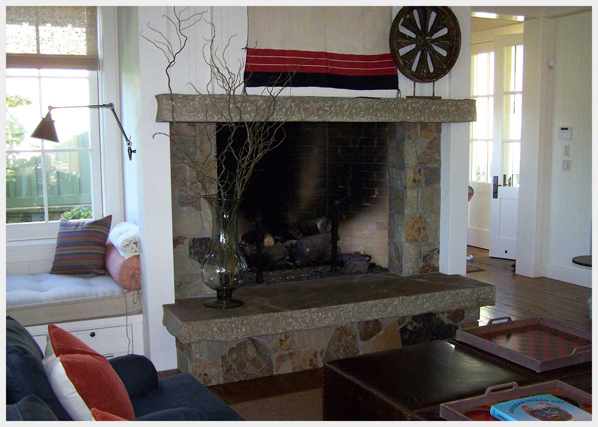 Shannon Masonry Construction - Residential Stone Masonry Contractor - Stone Fireplace Masonry Construction Project - Mill Valley CA